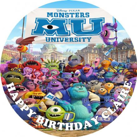 Monsters University Edible Cake Topper